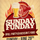 Sunday Funday Grill Party Flyer - GraphicRiver Item for Sale