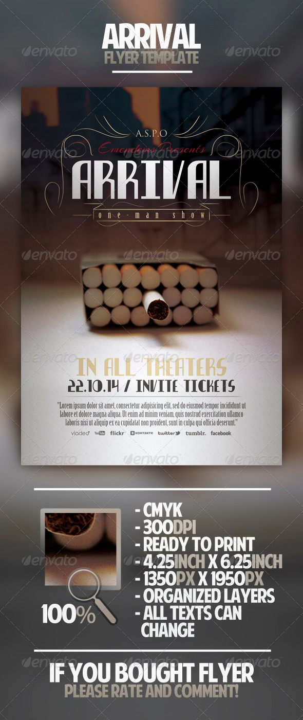 GraphicRiver Arrival Flyer Template 4453784