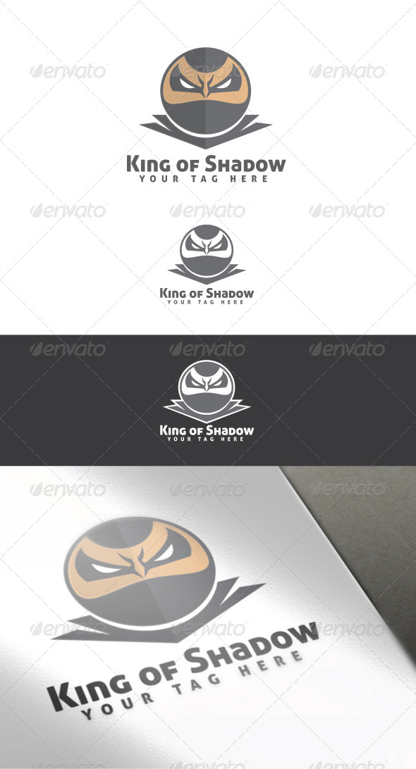 GraphicRiver King of Shadow Logo Template 4453805