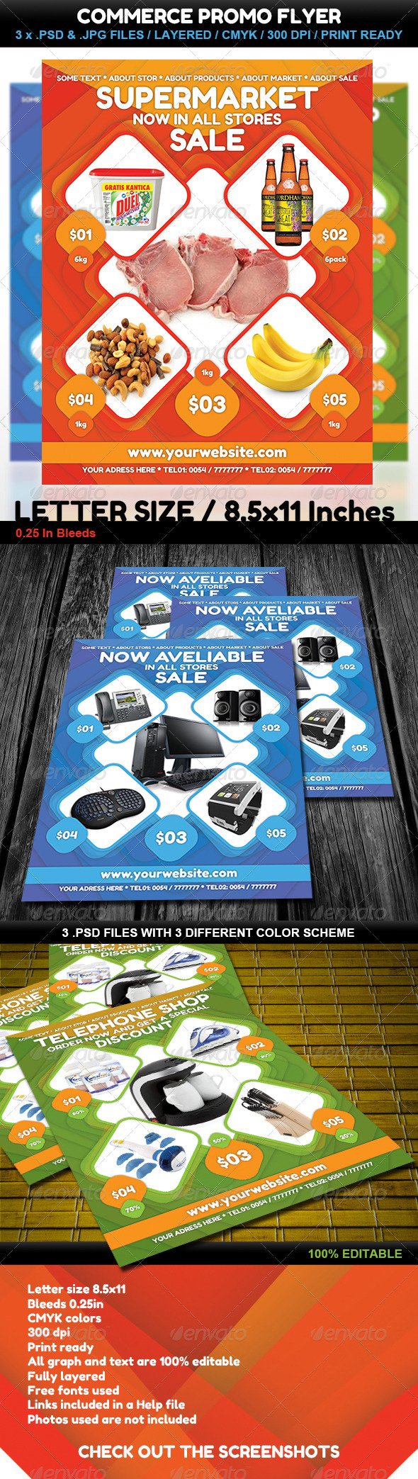 GraphicRiver Commerce Sale Prices Flyer 02 4453896