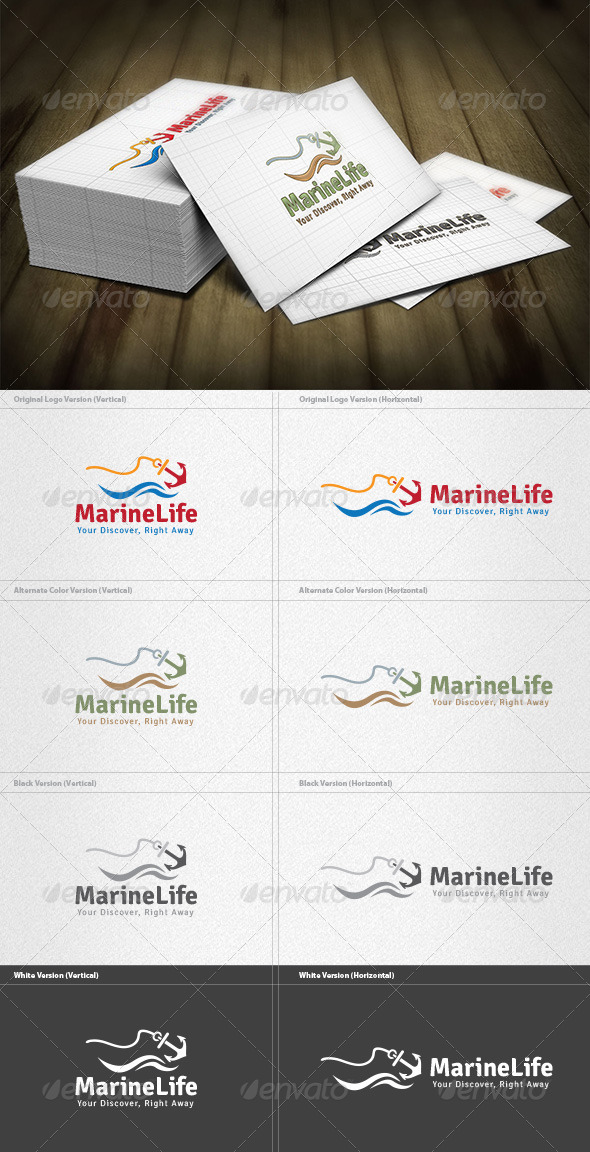 GraphicRiver Marine Life Logo 4454082