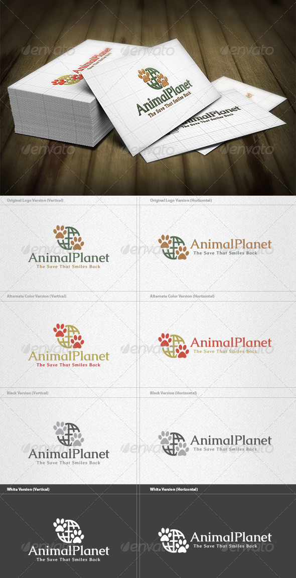 GraphicRiver Animal Planet Logo 4454142