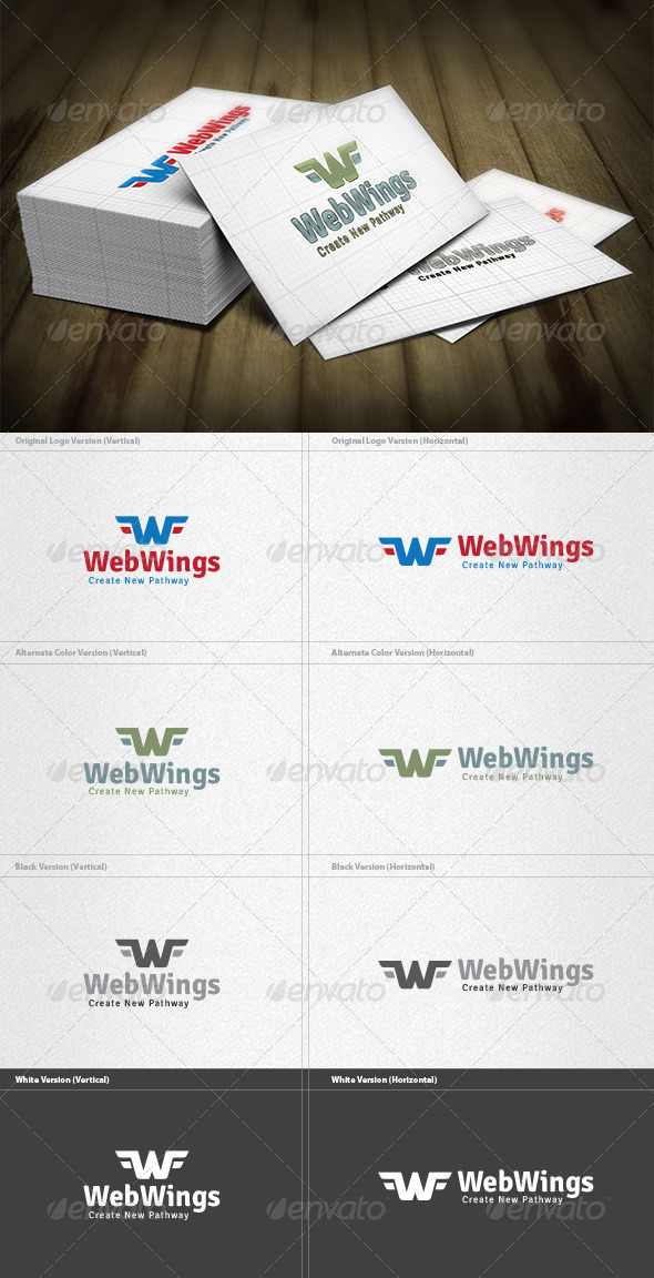 GraphicRiver Web Wings Logo 4454146