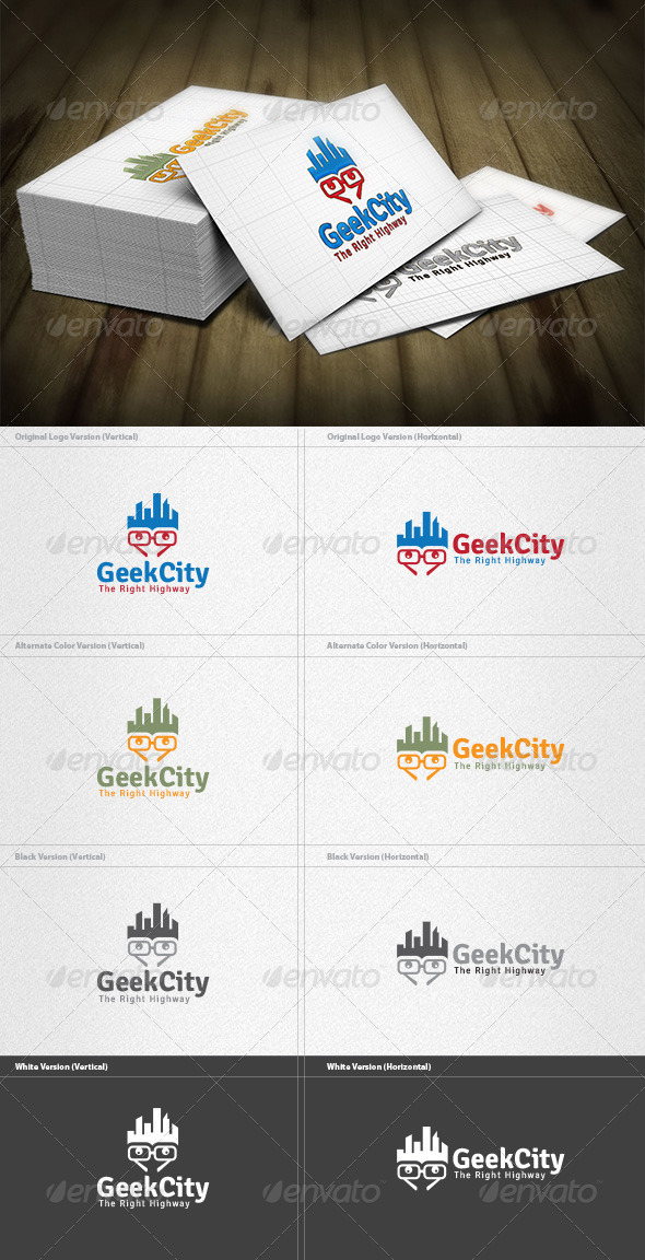 GraphicRiver City Geek Logo 4454164