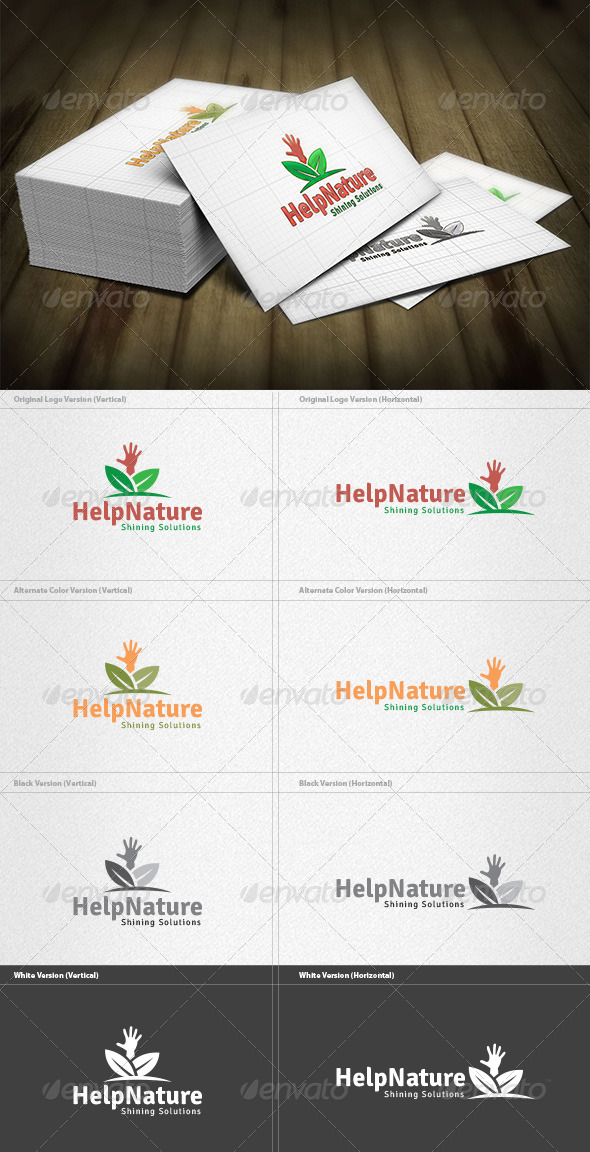 GraphicRiver Help Nature Logo 4454183