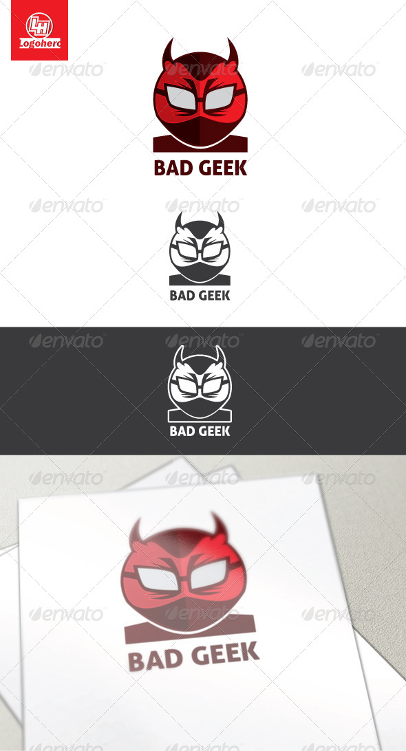 GraphicRiver Bad Geek Logo Template 4454314