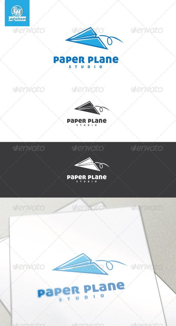 GraphicRiver Paper Plane Logo Template 4454329