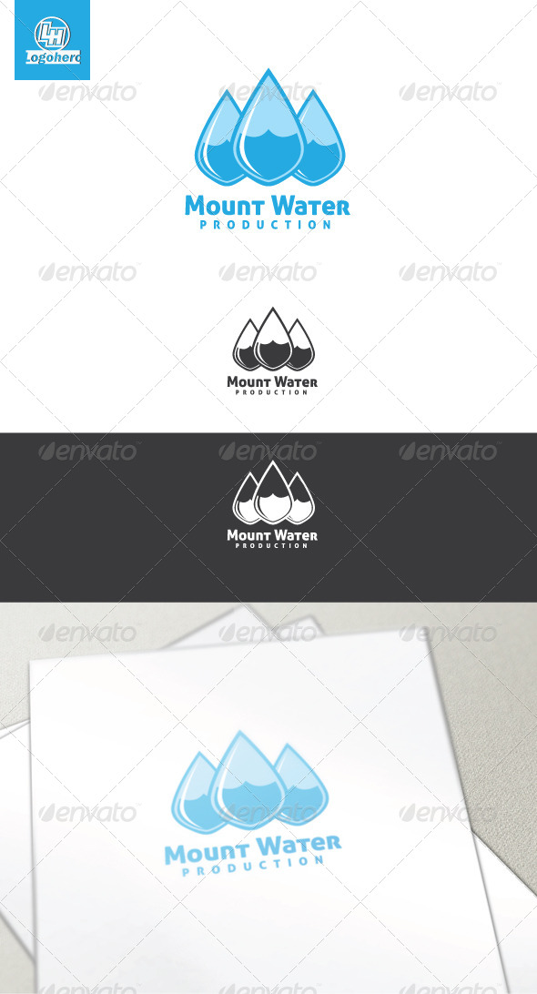 GraphicRiver Mount Water Logo Template 4454344