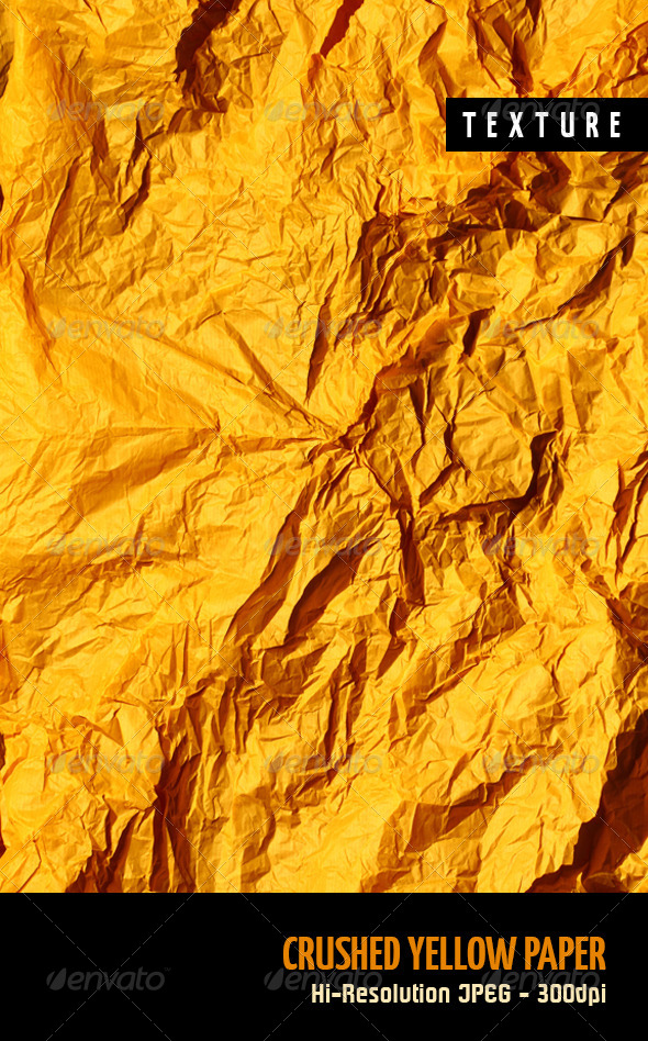 Crushed Yellow Paper - Paper Textures