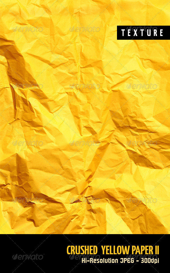 GraphicRiver Crushed Yellow Paper II 4454451