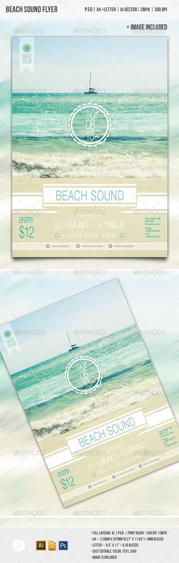 GraphicRiver Beach Sound Flyer 4360264