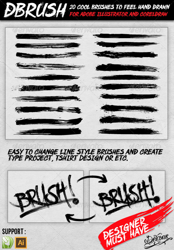 GraphicRiver dBrush 20 Cool Brush 4455001