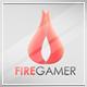 Fire Gamer Logo Template