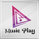 Music Play Logo Template