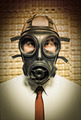 businessman with gas mask - PhotoDune Item for Sale