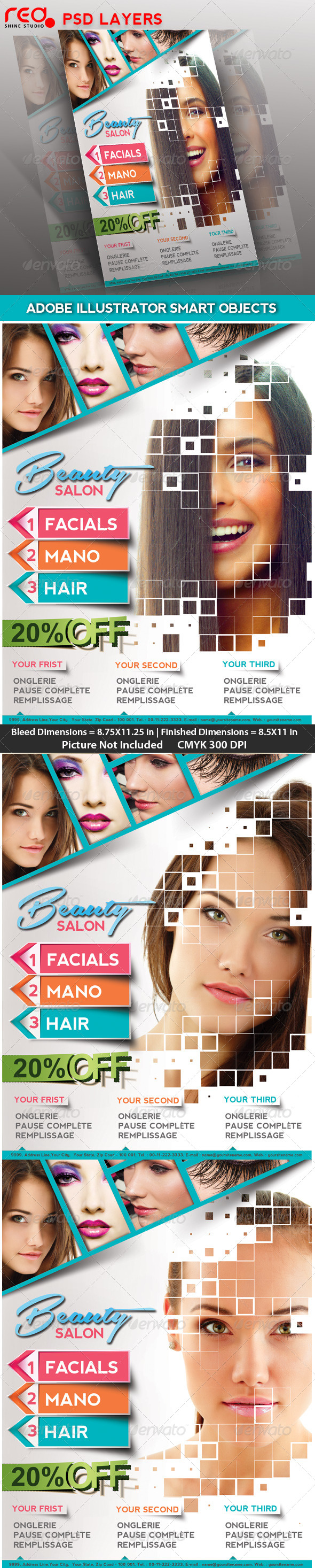 GraphicRiver Beauty Salon Poster flyer & Magzine Cover 4455160