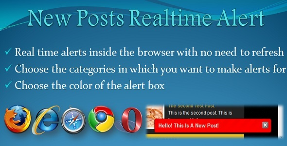 CodeCanyon New Posts Realtime Alert Plugin 4455734