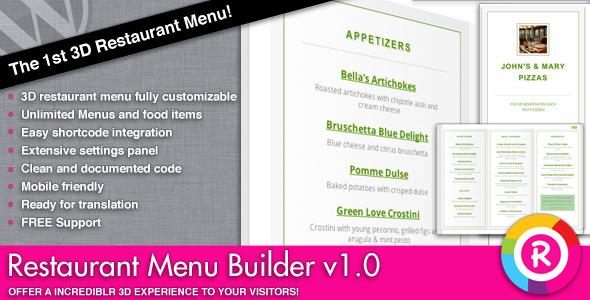 CodeCanyon Restaurant Menu Builder 4455756