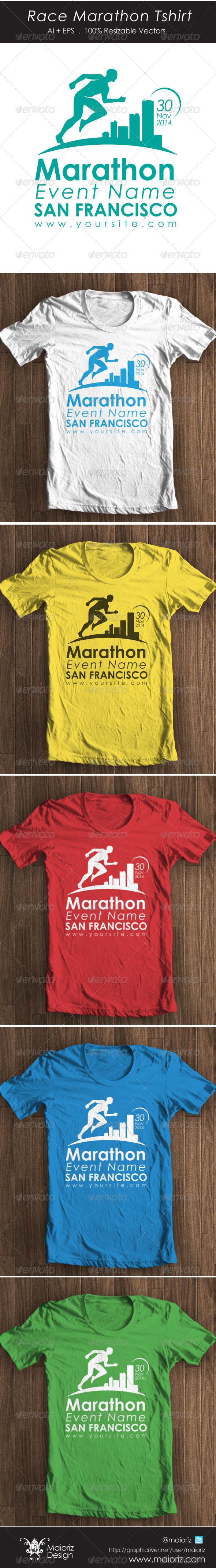 GraphicRiver Race Marathon Tshirt 4455791