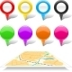 Set of Map Markers and Abstract Map. - GraphicRiver Item for Sale