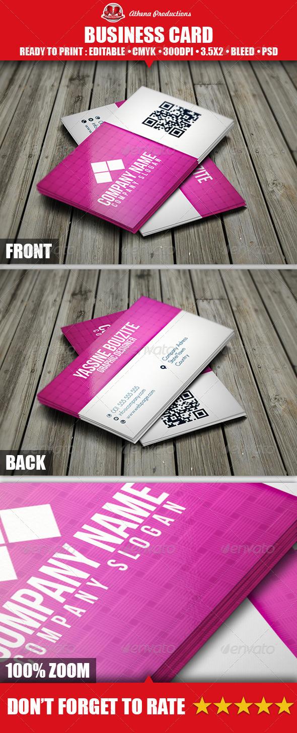 GraphicRiver Magenta Business Card 3704770