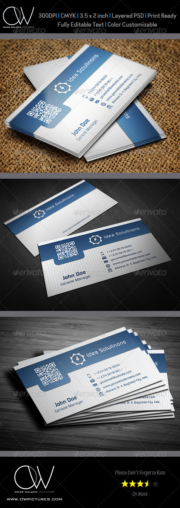 Corporate Business Card Vol.20 - Business Cards Print Templates