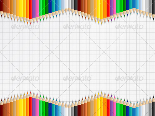 GraphicRiver Background with Colored Pencils 4455915