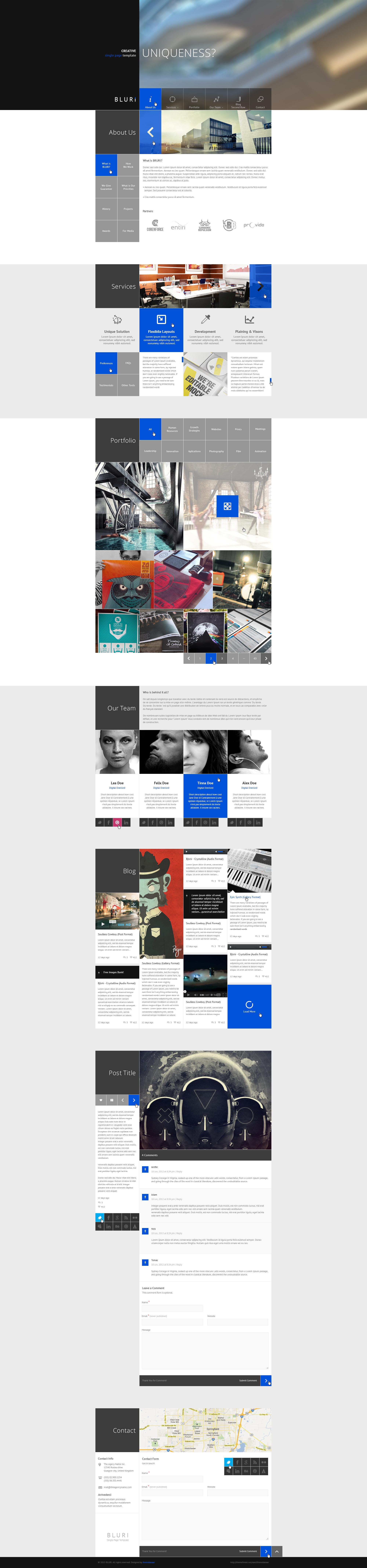 BLURI Single Page HTML Template