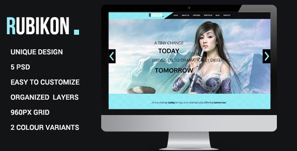 Rubikon - One Page Psd Template