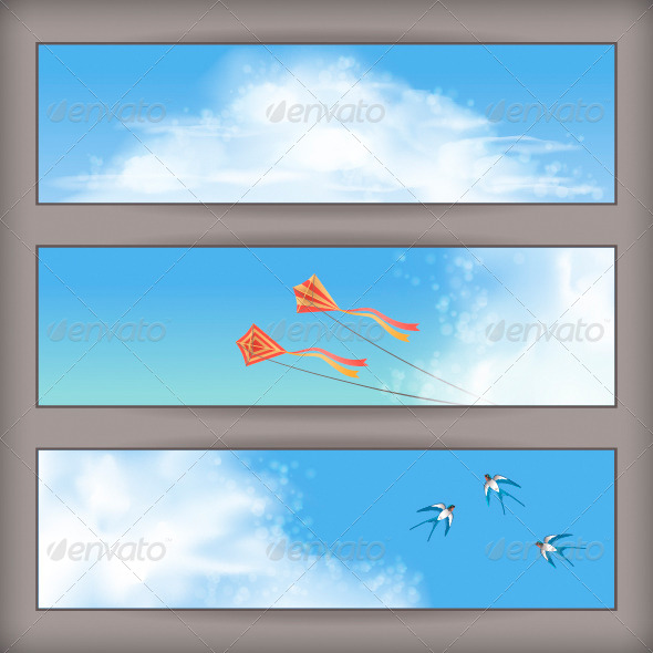 GraphicRiver Sky Banners 4455931