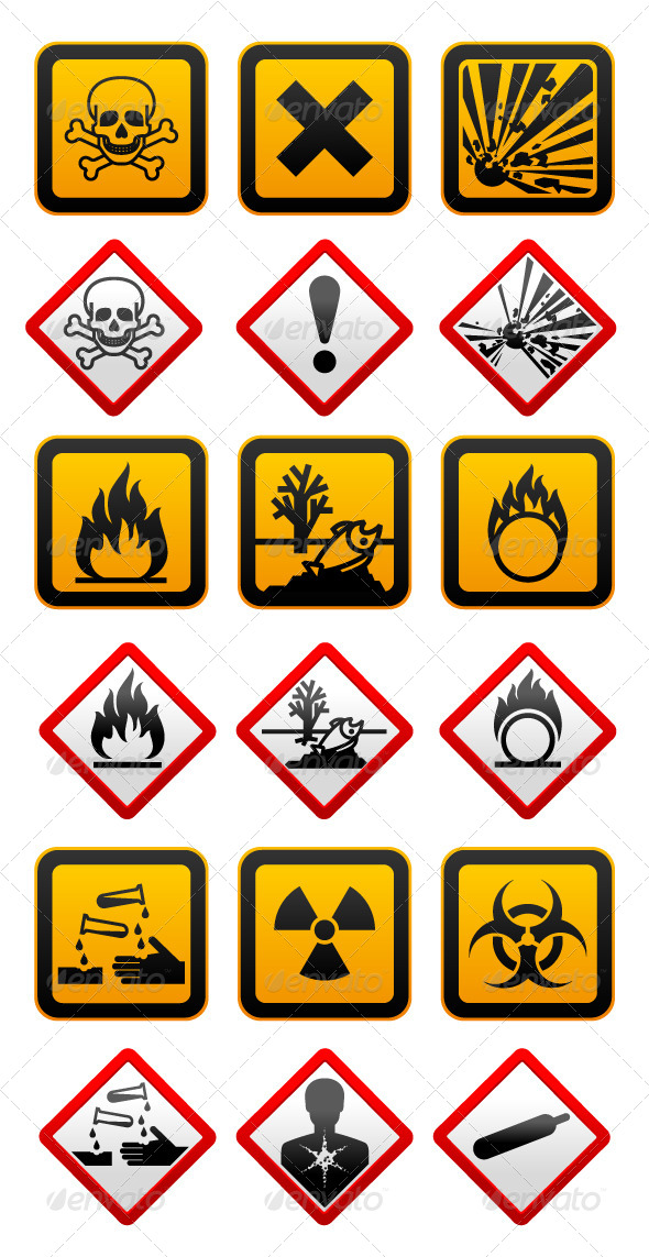 GraphicRiver New and Old Hazard Symbols 4455960
