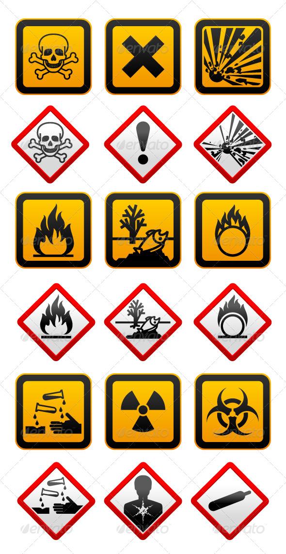 GraphicRiver New and Old Hazard Symbols 4455960
