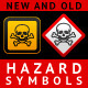 New and Old Hazard Symbols - GraphicRiver Item for Sale