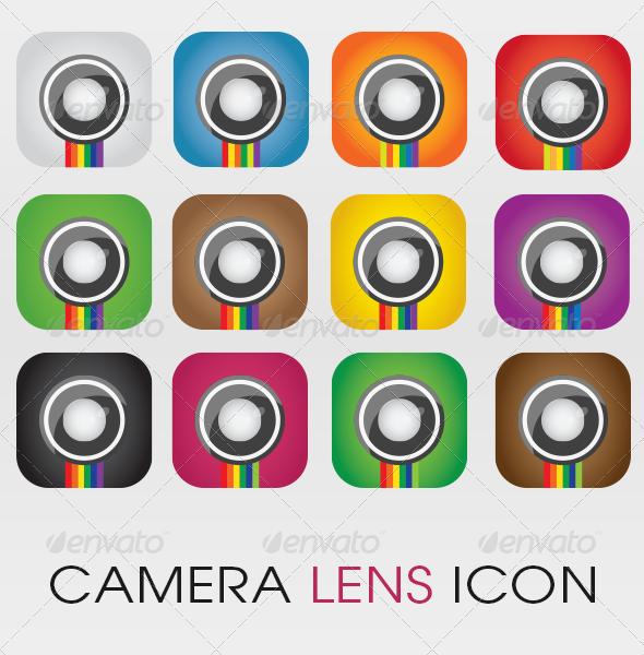 GraphicRiver Camera Lens Vector Icon 4399673