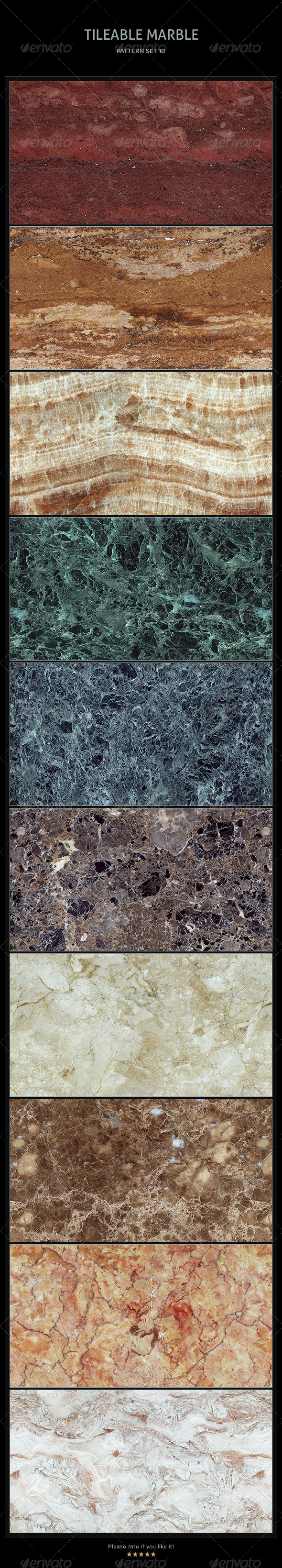 GraphicRiver 10 Tileable Marble Textures Patterns 4456043