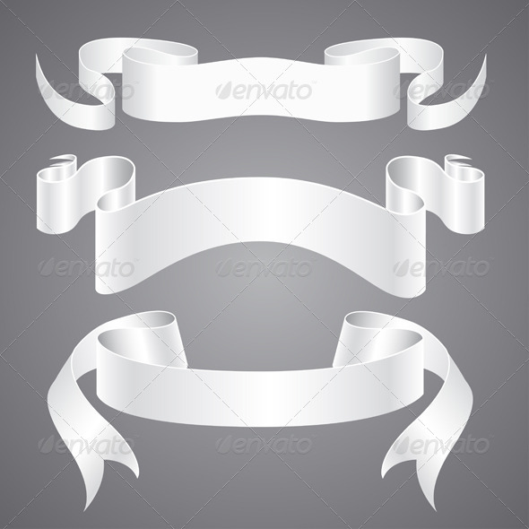 GraphicRiver White Paper Ribbons 4456273