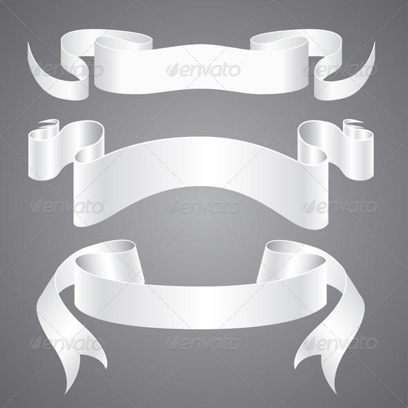 White Paper Ribbons