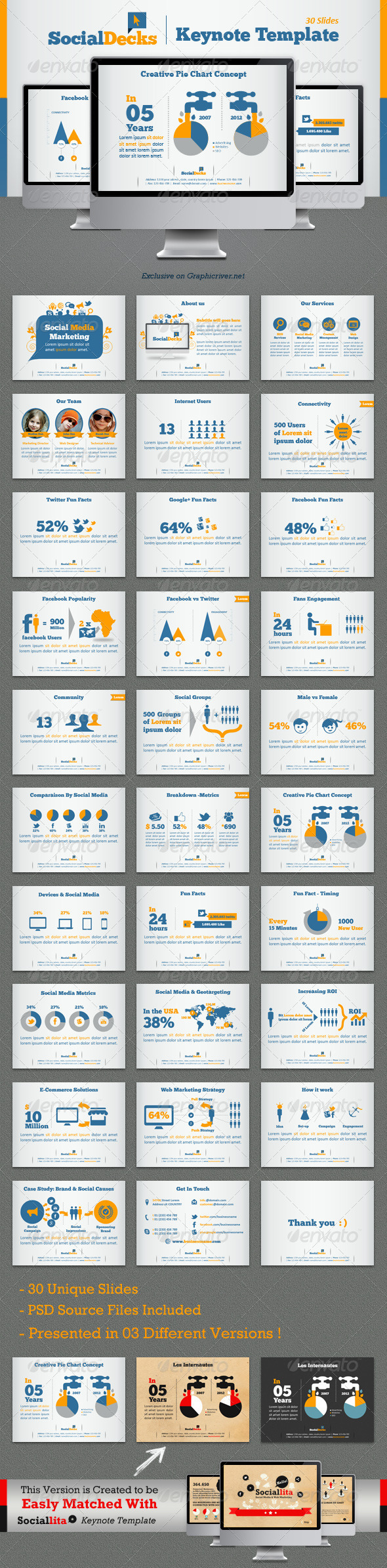 GraphicRiver SocialDecks Keynote Template 4456737