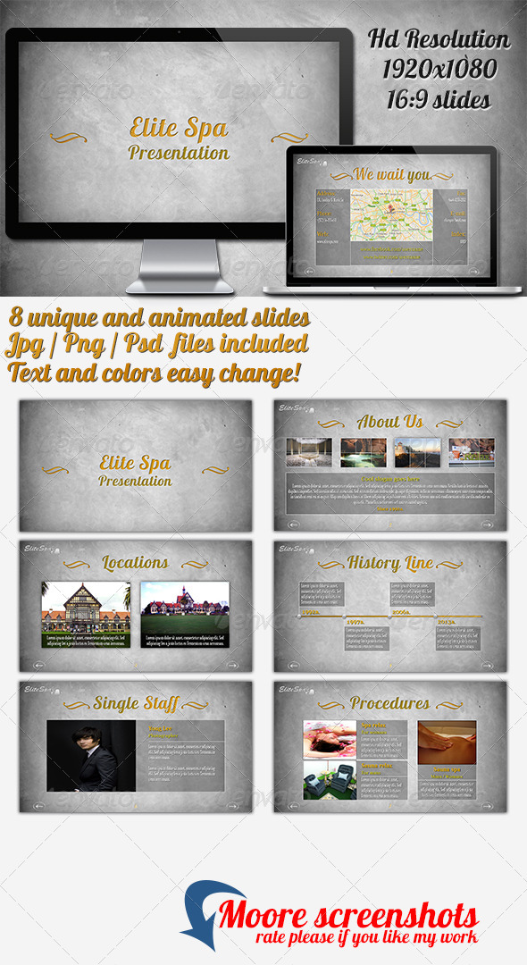 GraphicRiver Elite Spa Powerpoint Presentation 4456739