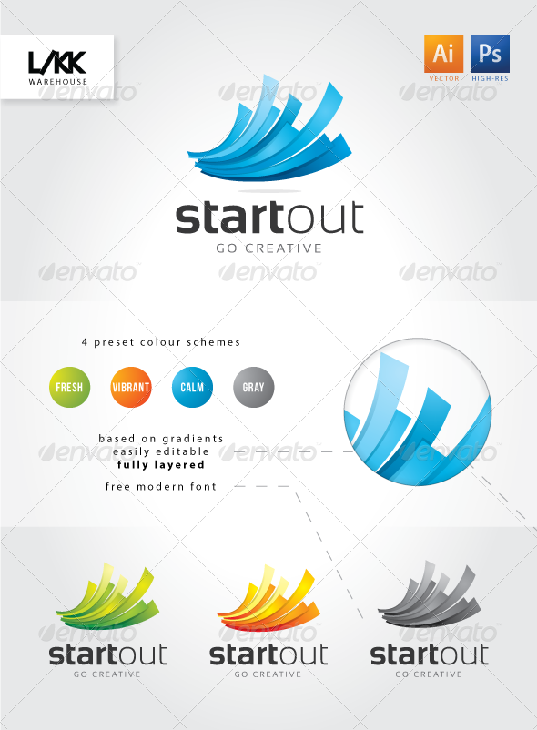 GraphicRiver StartOut Logo 4130235