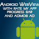 Android Webview with admob and Rate my app