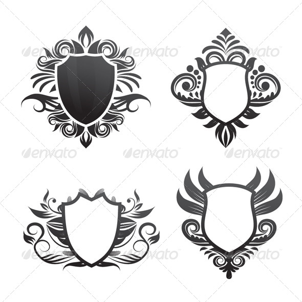 GraphicRiver Shield Ornament Set 4457077