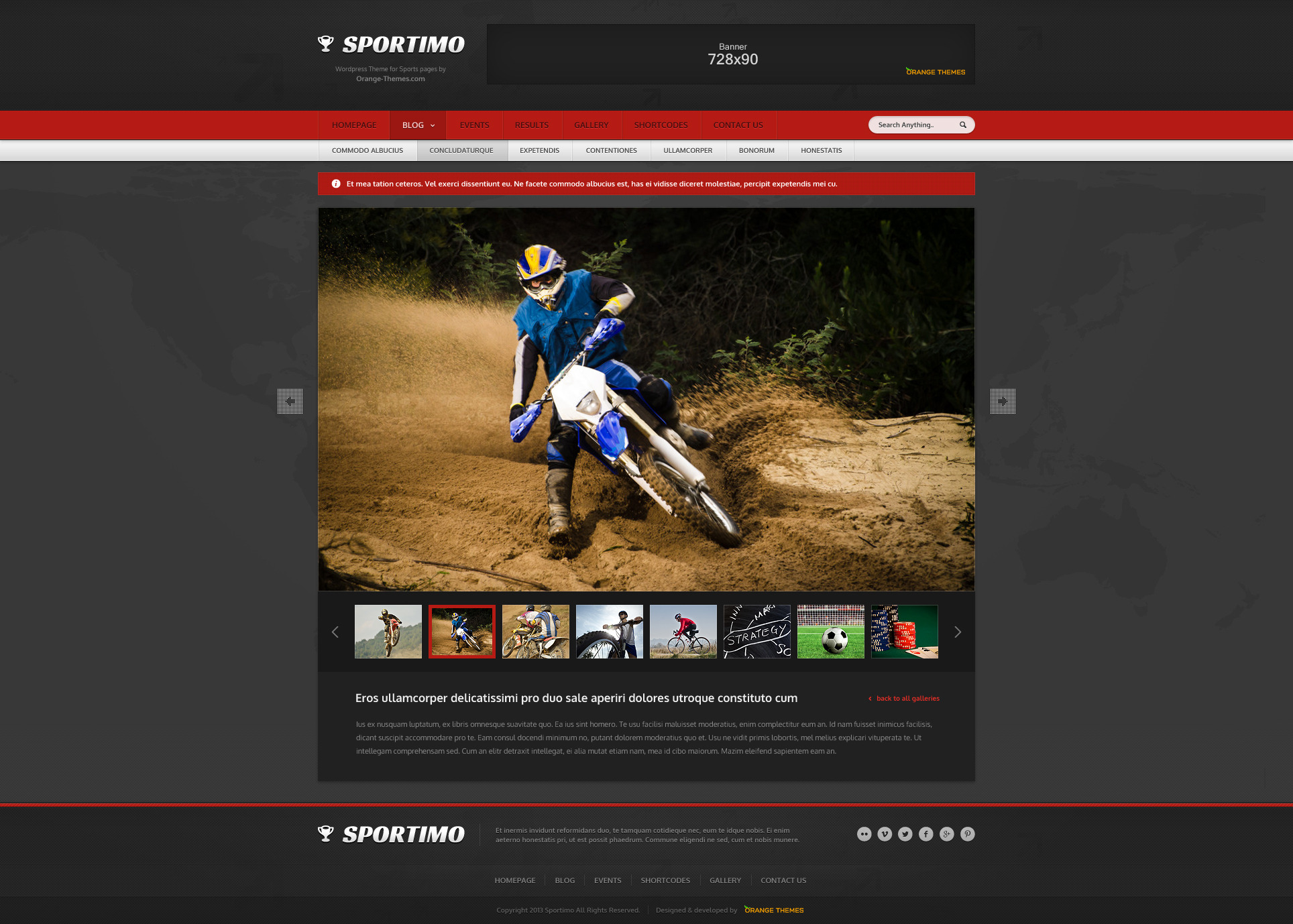 Sportimo - Sport & Events Magazine HTML Template