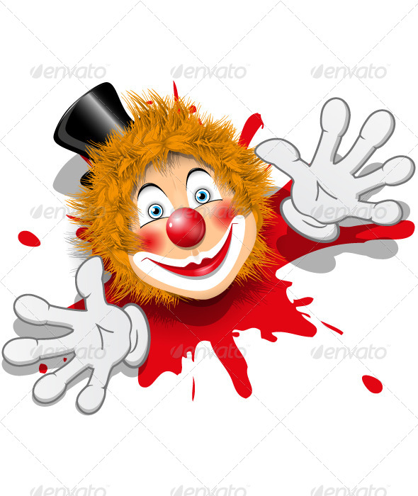 GraphicRiver Clown in White Gloves 4457101