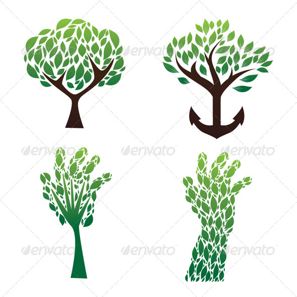 GraphicRiver Tree Green Vector Set 4457102