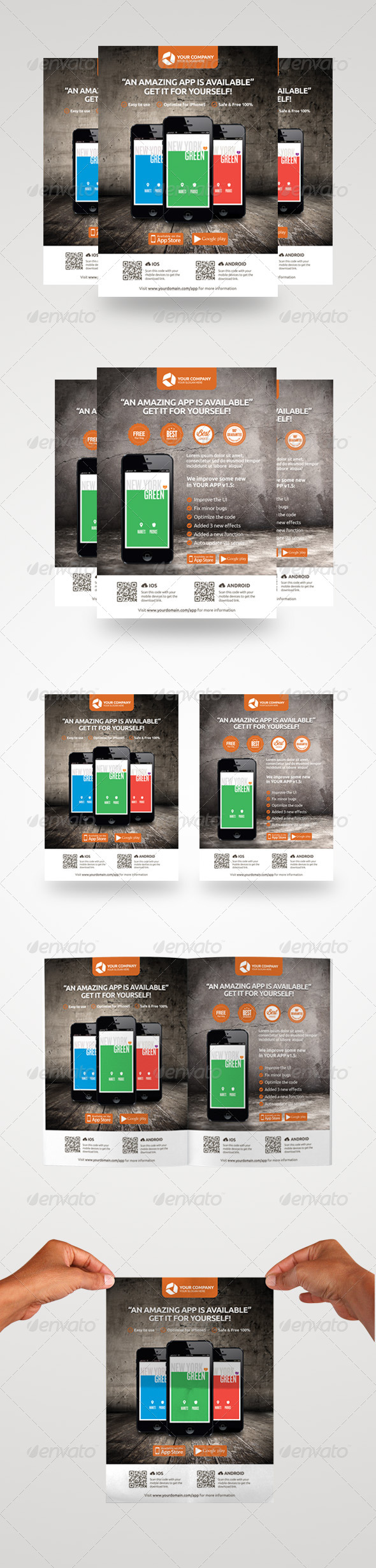 GraphicRiver Pro Mobile App Promotion Flyers 4352526