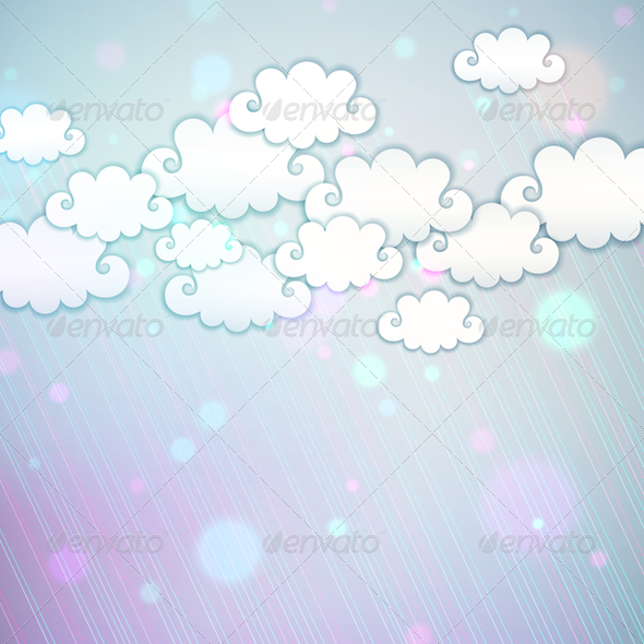 GraphicRiver Rainbow Clouds 4457485
