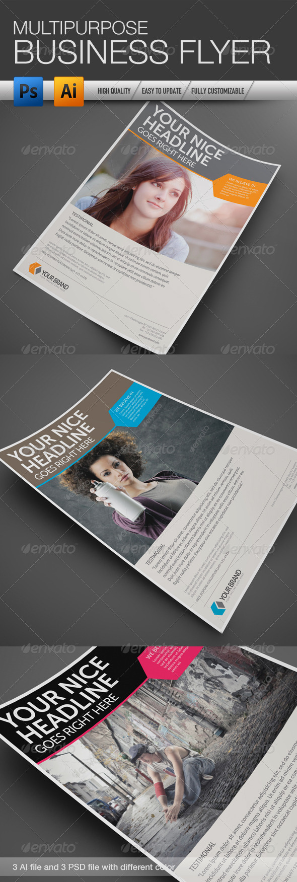 GraphicRiver Multipurpose Business Flyer 4 4357970