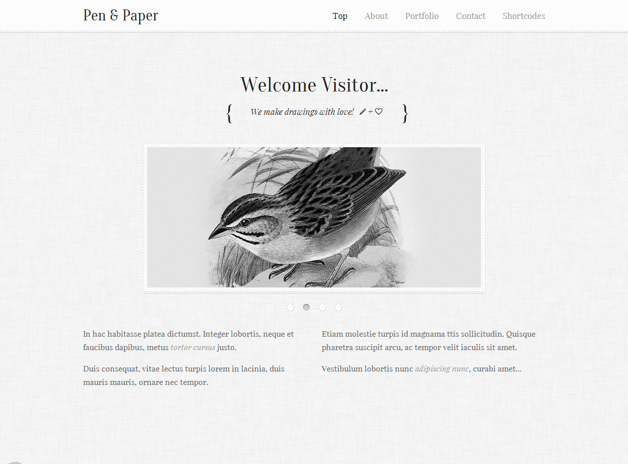 Pen and Paper - Responsive Site Template