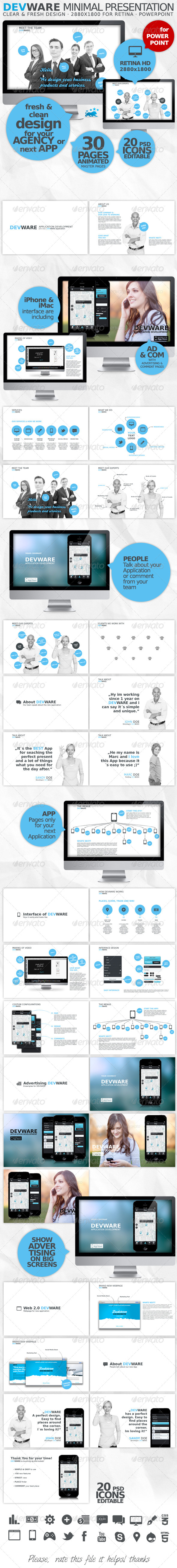 GraphicRiver DEVWARE 30 Pages PowerPoint Presentation 4458248